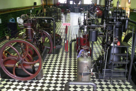 Some of the many machines and engines at the Industrial Museum in Horsens.