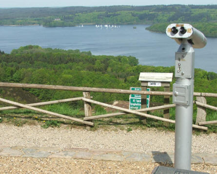 Looking out over the nearby lakes beneath the Himmelbjerget.