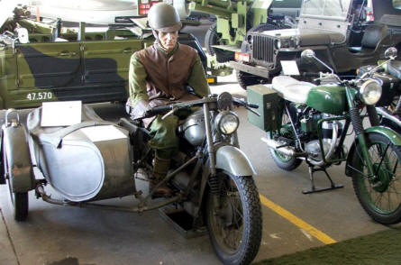 Motorcycles used by the Danish Army