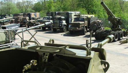 A collection of vehicles used by the Danish Army