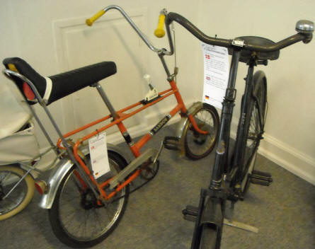 A 1970's children's bicycle displayed at Denmark's Bicycle Museum.