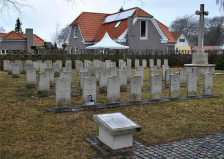 The World War II Commonwealth War Graves at the Frederikshavn War Cemetery.
