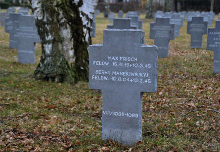 The grave of two German World War II soldiers at the Frederikshavn War Cemetery. Theses two soldiers were killed less than two months before the war ended.