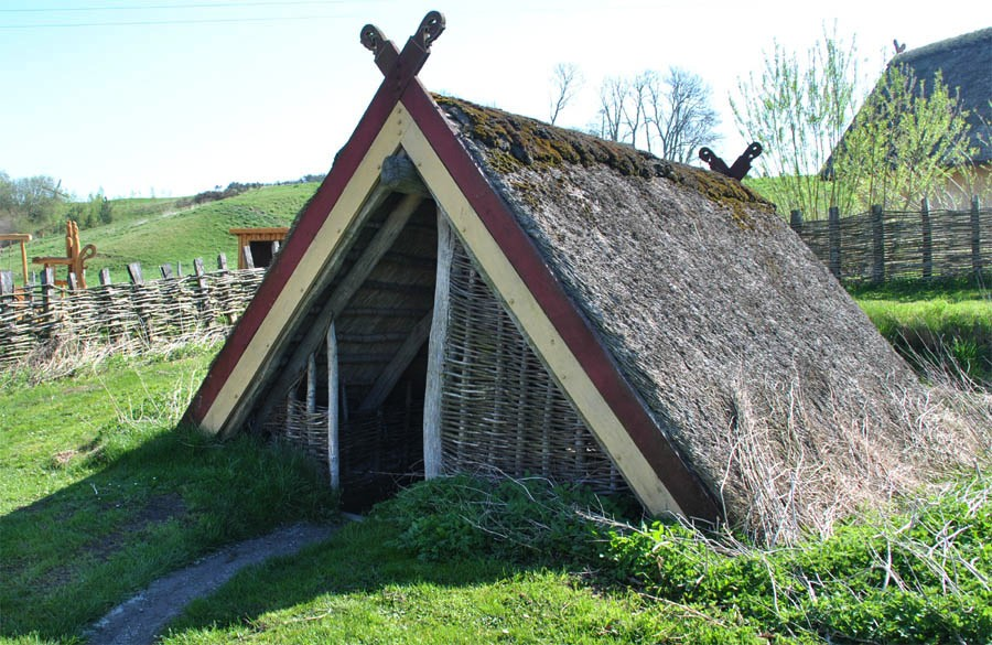 A picture of a viking house - House pictures