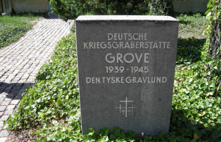 The entrance to the German War Cemetery at Grove (Karup).