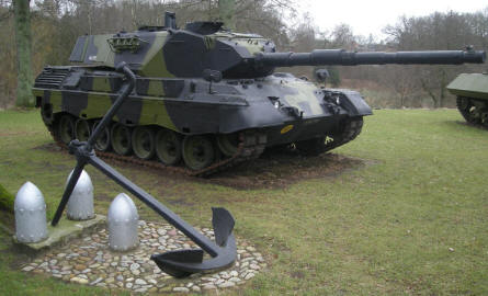 A Danish Leopard tank at at the Danish Soldiers Memorial at Rindsholm Inn.