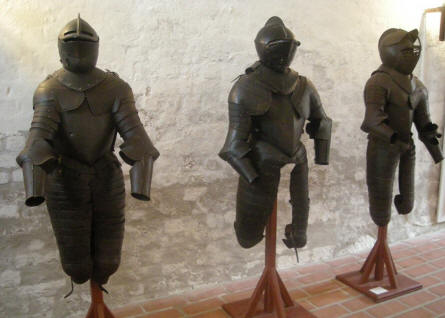 Old knights armour at Sønderborg Castle.
