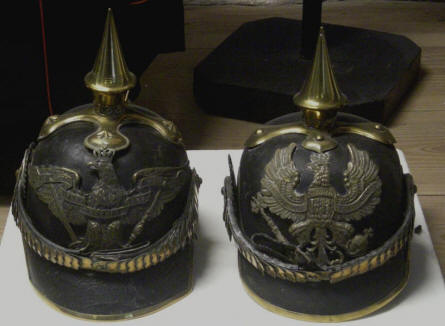 German helmets are a part of the military collection at Sønderborg Castle.