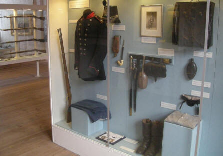 A Danish 1864 uniform is a part of the military collection at Sønderborg Castle.