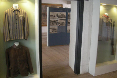 "Concentration Camp ""uniforms"" are a part of the World War II collection at Sønderborg Castle."