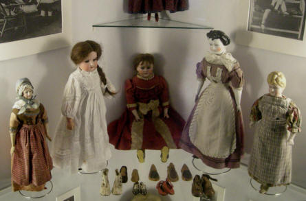 Some of the old dolls that are a part of the toy collection at Sønderborg Castle.