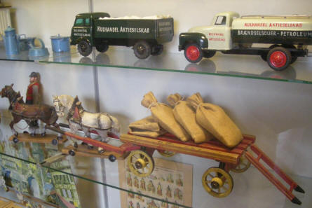 A part of the toy collection at Sønderborg Castle.