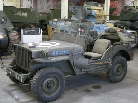 An American World War II Jeep at the Saumur Tank Museum (Musée des Blindés).