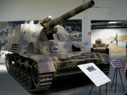 A German World War II Hummel self-propelled  gun at Saumur Tank Museum (Musée des Blindés).