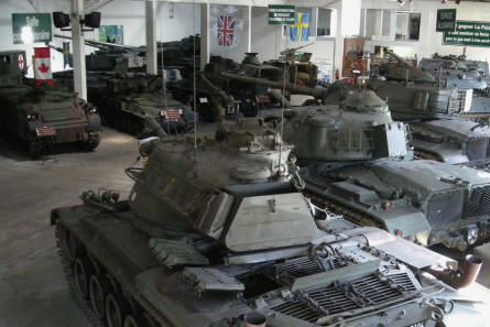 "Some of the many ""Cold War"" tanks and armoured vehicles at Saumur Tank Museum (Musée des Blindés)."