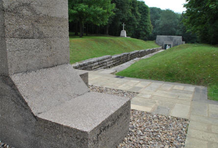 "The entrance to the ""Bayonet Trench"" World War I memorial - seen from the memorial."