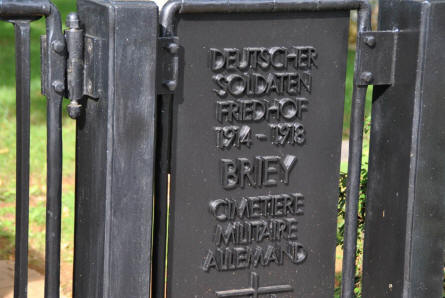 The entrance to the Briey German War Cemetery.