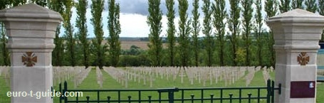 Verdun-Bevaux French Cemetery -  World War I & II Memorial - Verdun - European Tourist Guide - euro-t-guide.com