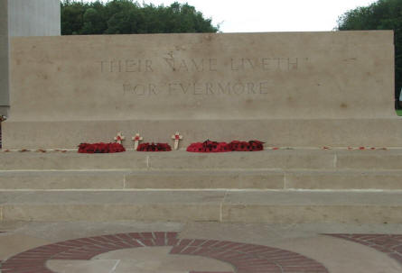 One of the inscriptions at the Thiepval Memorial.