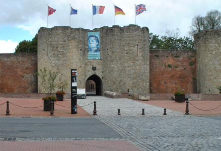 The entrance to the Museum of the Great War 1914-1918 in Péronne.