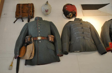 A German World War I uniform displayed at the Museum of the Great War 1914-1918 in Péronne.