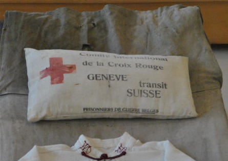 World War I Red Cross bandages displayed at the Museum of the Great War 1914-1918 in Péronne.