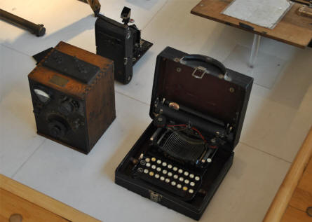 "Some of the ""modern"" World War I communication equipment displayed at the Museum of the Great War 1914-1918 in Péronne."