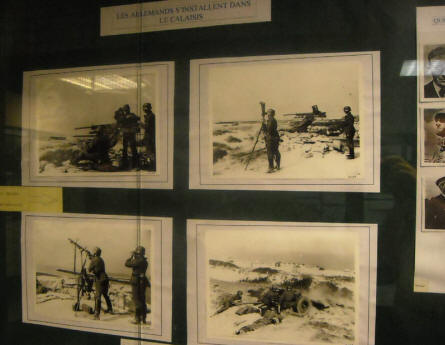 Some of the many World War II pictures displayed at the Calais War Museum.