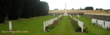 Quatre Vents Military Cemetery - Estree-Cauchy - Arras - France - World War I - European Tourist Guide - euro-t-guide.com