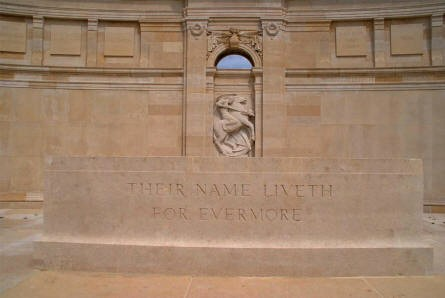 The centre of the Vis-en-Artois Memorial at the Vis-en-Artois British Cemetery.