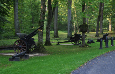 Some of the World War I canons at the Belleau Wood Memorial - north west of Château-Thierry.