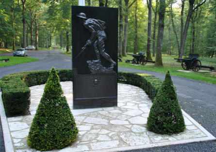 The main memorial at the Belleau Wood Memorial - north west of Château-Thierry.