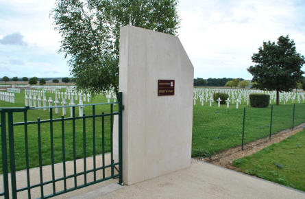 The entrance to the Souain French National War Cemetery.