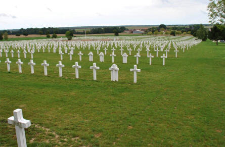 A huge section of the Souain French National War Cemetery.