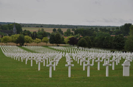 A section of the Souain French National War Cemetery.