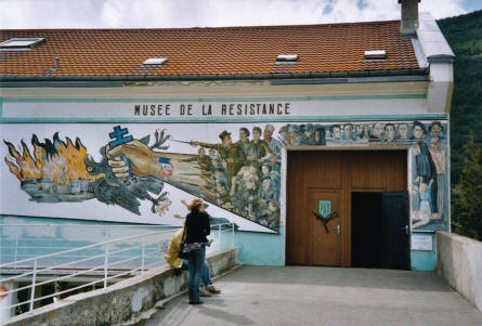 The entrance to the Museum of the Resistance in the Vercors.