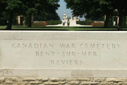 The entrance to Beny-Sur-Mer War Graves in Reviers.