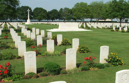 Some of the many graves at the Bretteville-sur-Laize Canadian War Cemetery - Cintheaux.