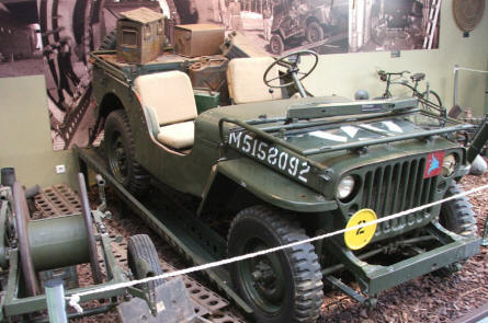 A Jeep used by the Allied forces at the Pegasus Bridge Memorial Museum.
