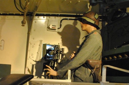 A look inside a German World War I tank displayed at the Panzer Museum in Munster.