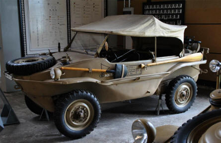 A German World War II Schwimmwagen - amphibious jeep -  displayed at the Panzer Museum in Munster.