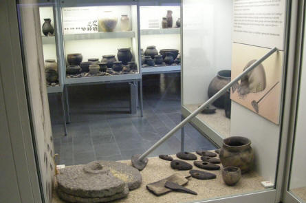 Some of the old Viking items displayed at the Viking Museum Haithabu.