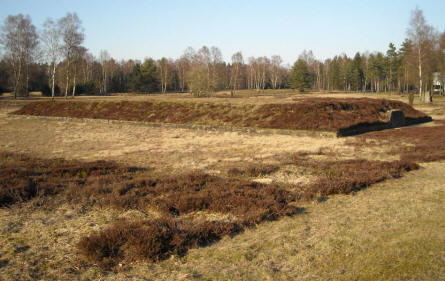 A typical mass grave at the Bergen-Belsen POW & KZ Camp.