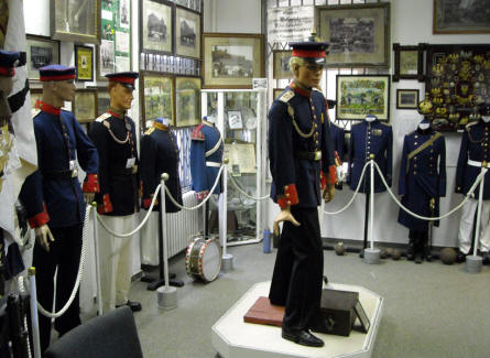 Some of the oldest German uniforms at the Celler Garrison Museum in Celle.
