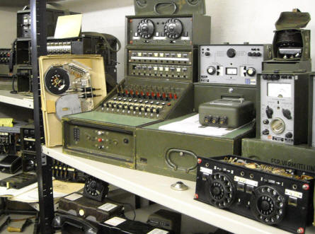 Some of the military communication equipment at the Celler Garrison Museum in Celle.