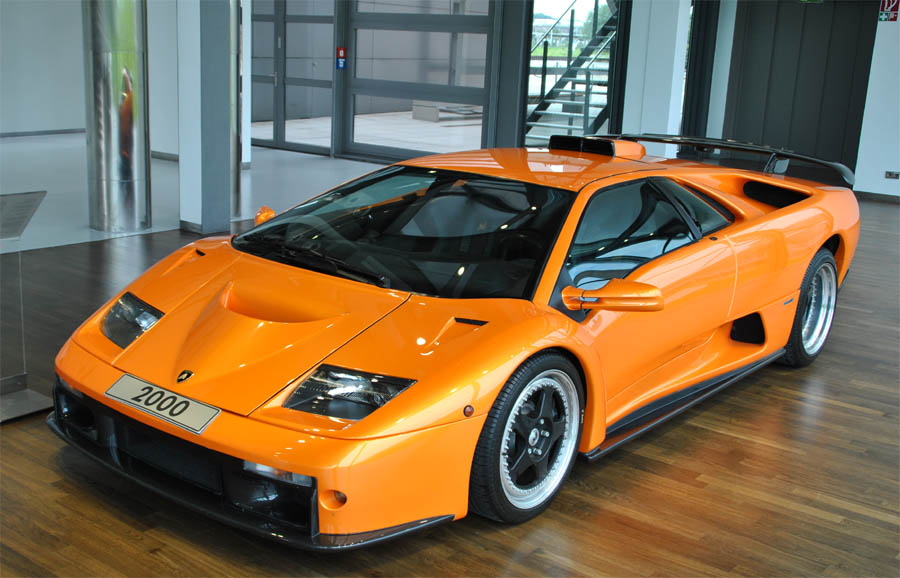 A  Lamborghini Diablo Gt Displayed At The Zeithaus Museum Autostadt In Wolfsburg