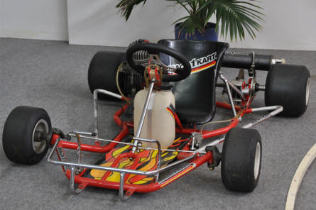 A race go-cart displayed at the Hockenheim-Ring Motor Sports Museum.