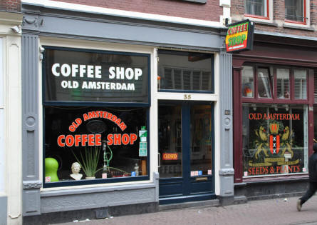 "One of the famous and much debated ""Coffee Shops"" in Amsterdam. Here they do not only server coffee."