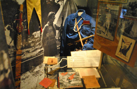 Some scout equipment displayed at the Amsterdam Museum.