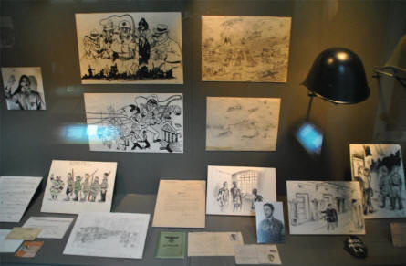 Some World War II cartoons displayed at the Amsterdam Museum.
